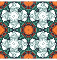 Seamless decorative pattern ornament with mosaic vector