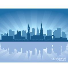 Leicester England skyline vector image