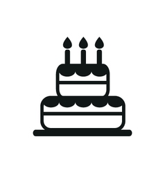 Simple black cake icon on white background vector