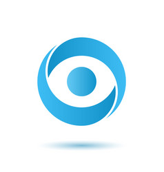 Opened eye logo media agency concept vector