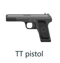 Tt pistol gun military handgun weapon firearm vector