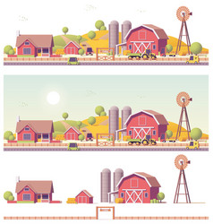 low poly farm vector image