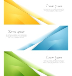 Concept abstract banners vector