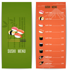 Asian food menu vector