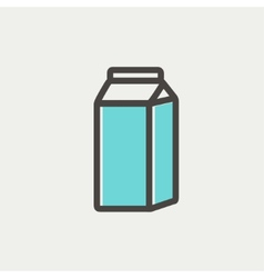 Fresh milk in a box thin line icon vector