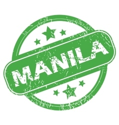 Manila green stamp vector