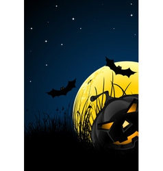 Halloween night vector