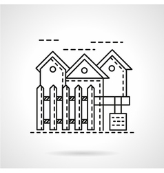 Rent of residence line icon vector
