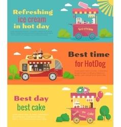 Street food banners set vector image