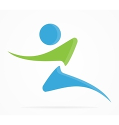 Fitness and running logo vector