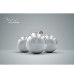 Christmas balls happy new year vector