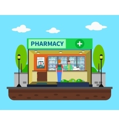 Pharmacy concept vector