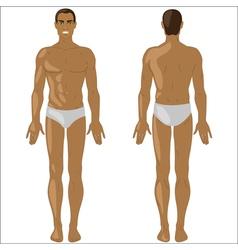 African american man in swimwear vector