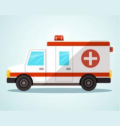 Ambulance car flat design vector