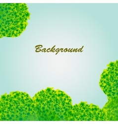 Background with green porous objects vector image