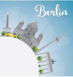 Berlin skyline with grey building vector image