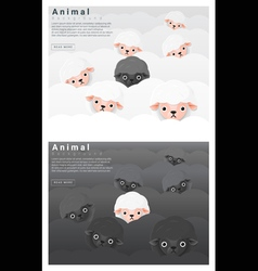 Black and white sheep background vector