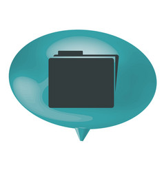 Blue bubble file icon vector