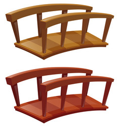 bridges made of wood vector image