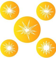 Bursting star vector image