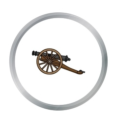 Cannon icon in cartoon style isolated on white vector image vector image