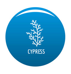Cypress leaf icon blue vector