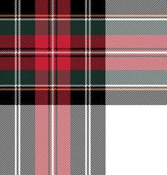 Dress stewart tartan seamless pattern fabric vector