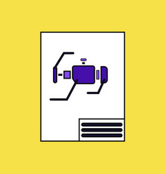 Flat icon design collection motor circuit vector