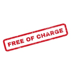 Free Of Charge Rubber Stamp vector image