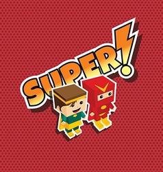 Great superhero couple vector