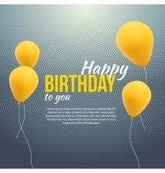 Happy birthday poster background with yellow vector