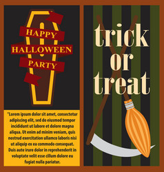 happy halloween party posters vector image