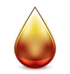 Hi-tech water drop icon vector image
