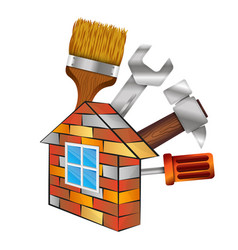 home repair with tool vector image vector image