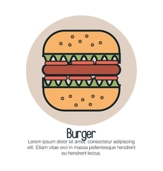 line burger design vector image