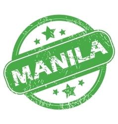 Manila green stamp vector