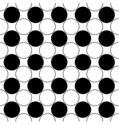Repeating abstract black and white circle pattern vector