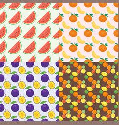 Ripe orange products fruits seamless pattern vector