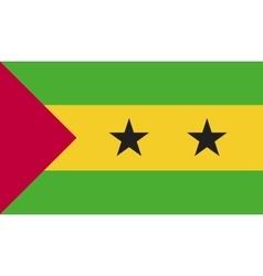Sao tome and principe flag image vector