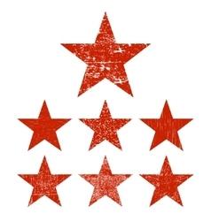 Set grunge star vector