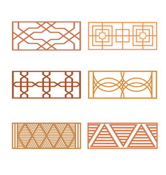 set of different fence design vector image vector image