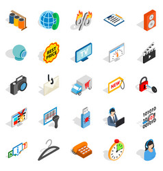 Shop icons set isometric style vector