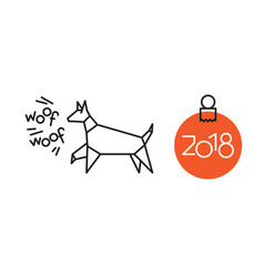 symbol of new year dog vector image vector image