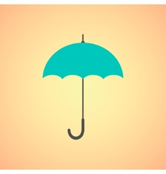 umbrella icon on orange background vector image
