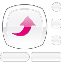 Upload white button vector