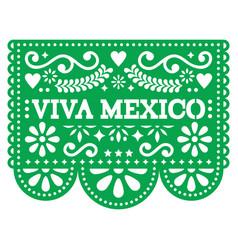 Viva mexico papel picado design - mexican vector