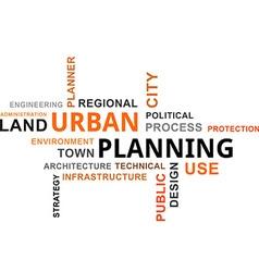 Word cloud urban plannin vector