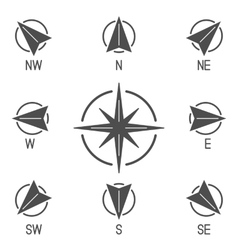 Compass icons collection vector