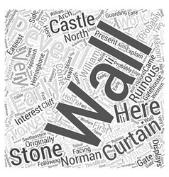 Peveril castle word cloud concept vector