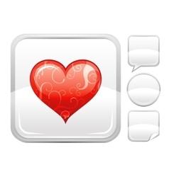 Happy valentines day romance love heart icon vector